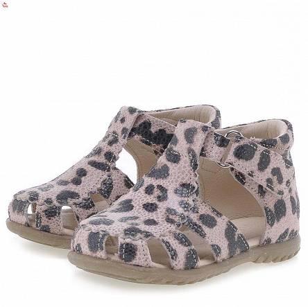 Sandałki z motywem w panterkę Emel E 2186A-4