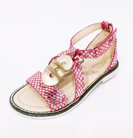 Różowo złote sandały Emel E 2577A-2