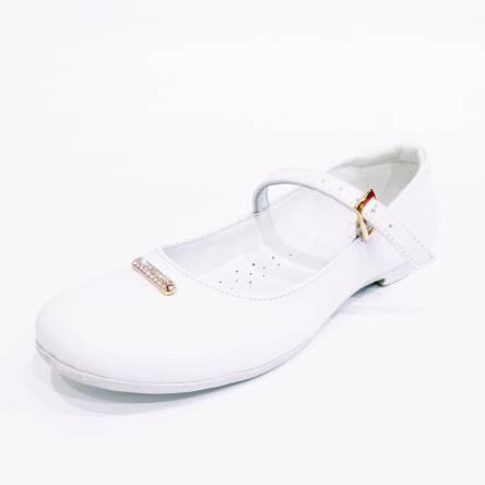 77789a5bdb Białe baleriny komunijne Emel E 2661