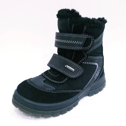 Czarne śniegowce z membraną GoreTex Primigi 86610/77