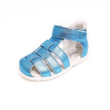 Błękitne połyskujące sandałki Emel E 1078-20